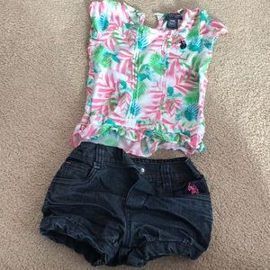 Baby girl polo summer outfit